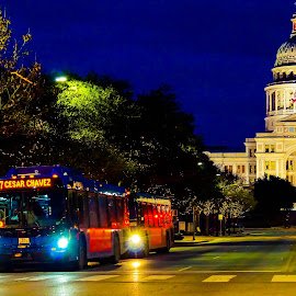Congress Ave by Kevin Smith - City,  Street & Park  Street Scenes ( capitol texas congress avenue )