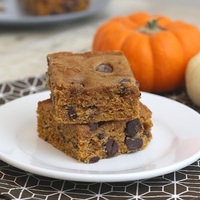 Pumpkin Chocolate Chip Squares