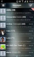 Screenshot of Go SMS Theme Liquid Metal HD