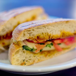 Caprese Panini with Sun-Dried Tomato Mayo