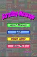 Screenshot of Scrolling Message