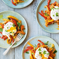Poached Eggs with Sweet Pepper Piperade