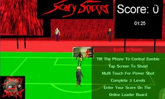 Screenshot of Zombies Scary Soccer Football