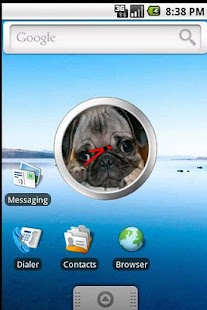 Pug Clock Widget - screenshot