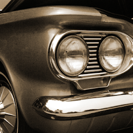 Corvair by Clark - Worthington - Transportation Automobiles ( car, automobile, headlight, corvair )