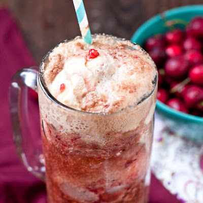 Fresh Cherry Dr Pepper Floats