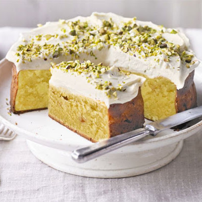 Peach, Pistachio & White Chocolate Pound Cake