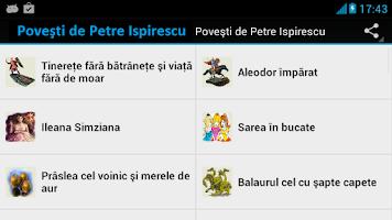 Screenshot of Povesti de Petre Ispirescu