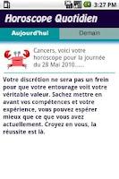 Screenshot of Cancer Daily Horoscope