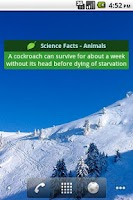 Screenshot of Science Facts
