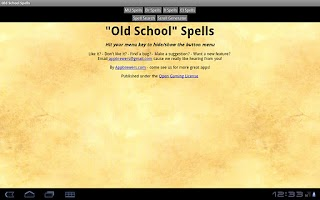 Screenshot of Old School Spells