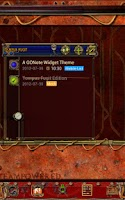 Screenshot of Steampunk Tempus Fugit GO Note