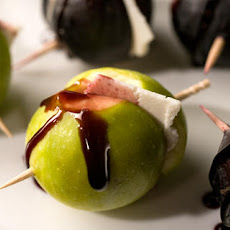 Ricotta Salata–Stuffed Figs with Port Reduction