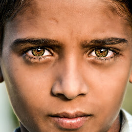 Special Eyes by Subal Soral - Babies & Children Child Portraits ( face, colorful, color, portrait, eyes )