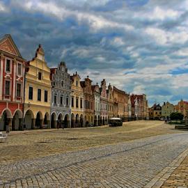 Telc by Dominic Jacob - City,  Street & Park  Historic Districts ( old, telc, czech, czech republic, city )
