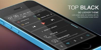Screenshot of Top Black GO Locker Theme