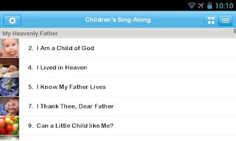 Screenshot of LDS Children's Sing-Along