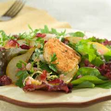 Warm Autumn Goat Cheese Salad