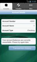 Screenshot of Chessie FCU Mobile Banking