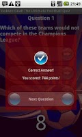Screenshot of Golden Goal! Football Quiz
