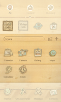 Screenshot of Vintage Café GO Launcher Theme