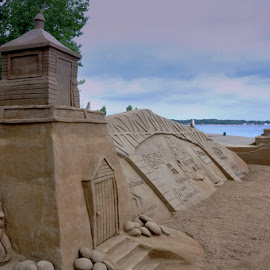 Sandy Castled Beach by Diane Underwood - Landscapes Beaches ( sand, castles, beach,  )