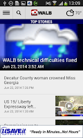 Screenshot of WALB News 10