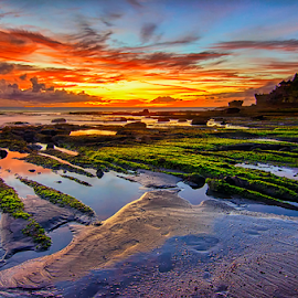 Tanah Lot by Hendri Suhandi - Landscapes Travel ( temple, bali, sunset, travel, beach )