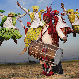 Celebrating The Harvest by Pradeep Mahajan - People Musicians & Entertainers ( dancers, joy, bhangra, happiness, india, dance, energy )