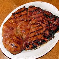 Gammon Steaks On The Barbecue
