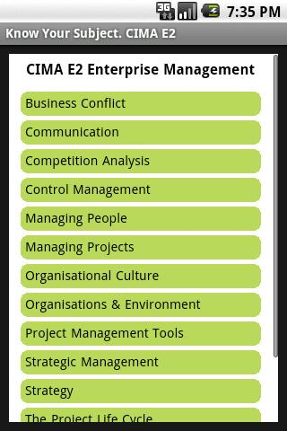 CIMA E2 Enterprise Management