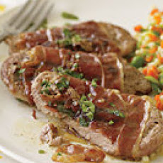 Saltimbocca with Baby Pasta Primavera