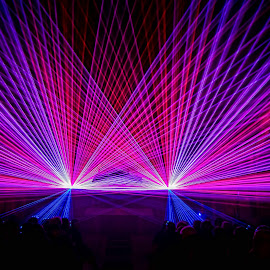 Lasershow by Annet van Raalten - News & Events Entertainment ( lasershow, creativity, lighting, art, artistic, purple, mood factory, lights, color, fun )