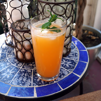 Cantaloupe, Honey, and Mint Agua Fresca