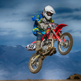 Young Motocross Racer by Jim Shafer - Sports & Fitness Motorsports ( motorcycle racing, motocross, nevada, western images )
