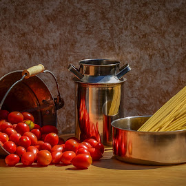 Pasta by Margareth Perfoncio - Food & Drink Ingredients ( tomato, pasta )
