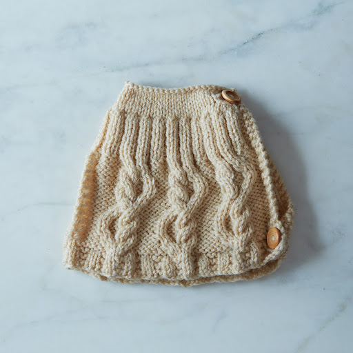 Wool Cable Knit Tea Cosy