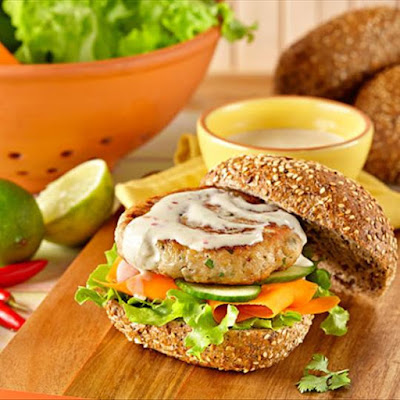 Satay Chicken Burgers