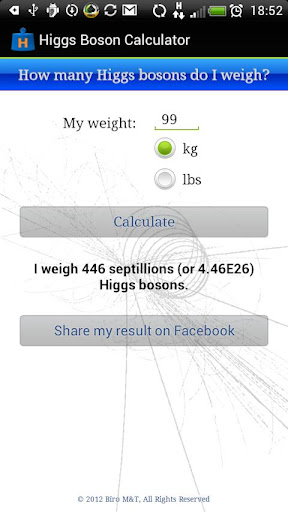 Higgs Boson Calculator