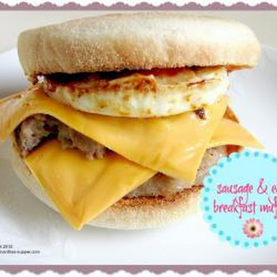 Sausage And Egg Breakfast Muffin