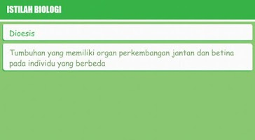 Screenshot of Kamus Biologi