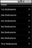 Screenshot of Dedicatorias de Amor