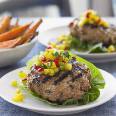 Thai Burgers With Salsa & Sweet Potato Wedges