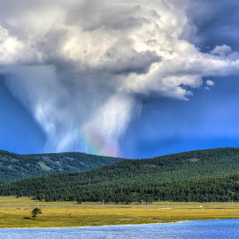 Khuvsgul lake Mongolia by Borjigon Bayasal - Landscapes Cloud Formations