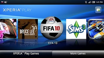 Screenshot of Xperia™ PLAY games launcher