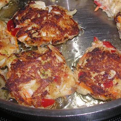 Golden Lime Red Crabcakes