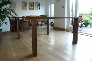 Modern, Elegant Dining Table - Large Dovetailed Joints in American Black Walnut