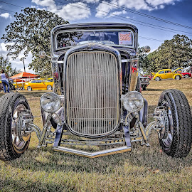 Claremore Car Show Host Car by Ron Meyers - Transportation Automobiles