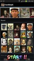 Screenshot of Face Morph