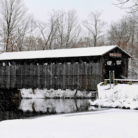 by Todd Yonkers - Buildings & Architecture Decaying & Abandoned ( winter, covered bridge, snow, bridge, snowing )